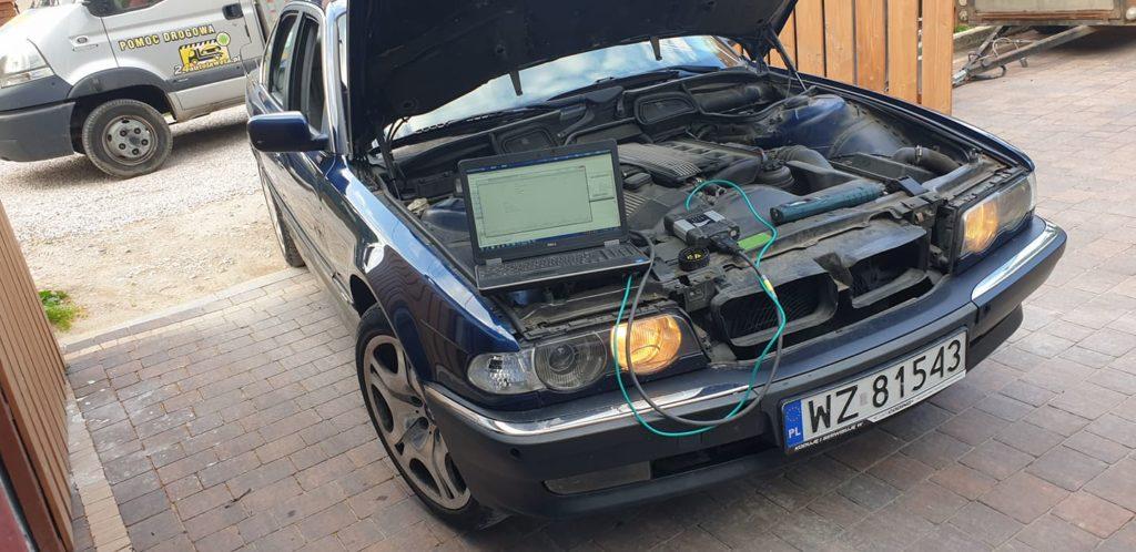 BMW seria 7 kodowanie swiatel jazdy dziennej